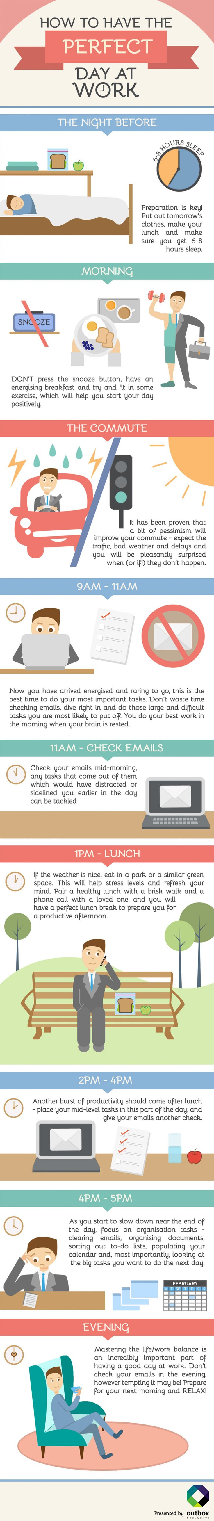 How to Have the Perfect Day at Work Infographic