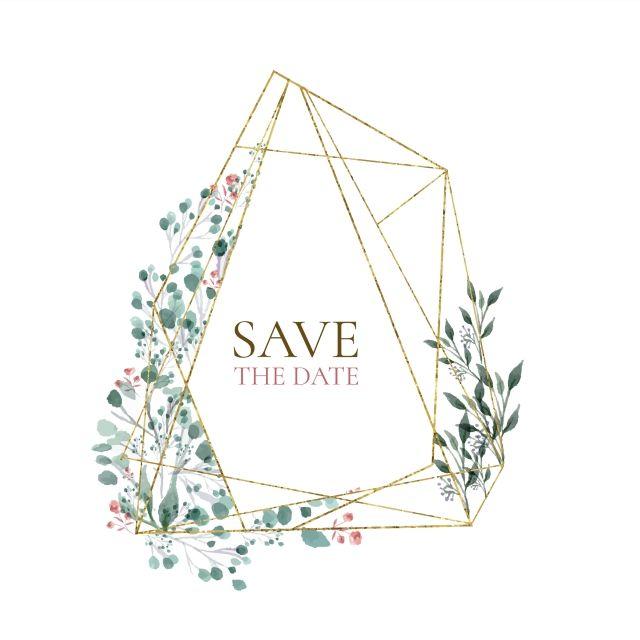 Golden Geometric Marble Wedding Set Digital Download Printable DIGITAL DOWNLOAD