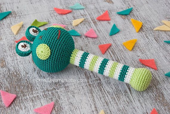 Frog Rattle Crochet Rattle Baby Rattle Toy Crochet Toy Baby Gift