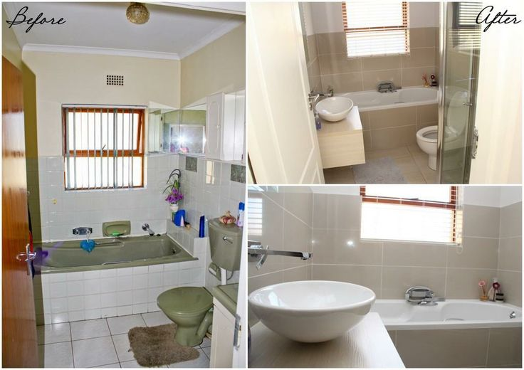 Bathroom revamp - before and after.
