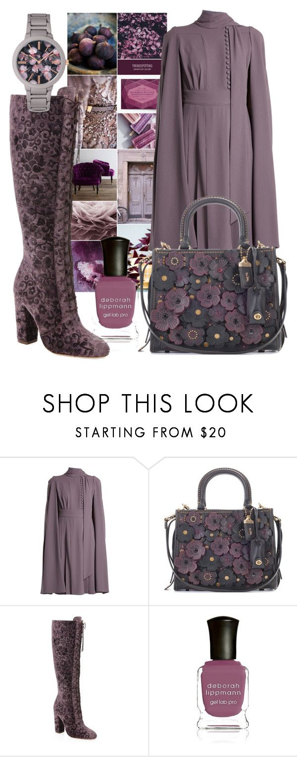 """Purple dreams"" by subvilli ❤ liked on Polyvore featuring Valentino, Coach, Alice + Olivia, Deborah Lippmann and Nine West"