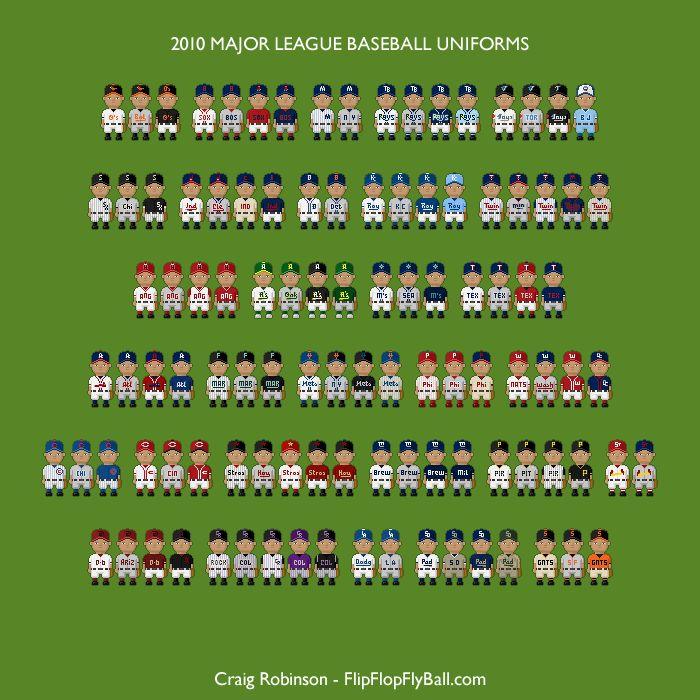 Flip Flop Fly Ball - MLB uniforms, 2010