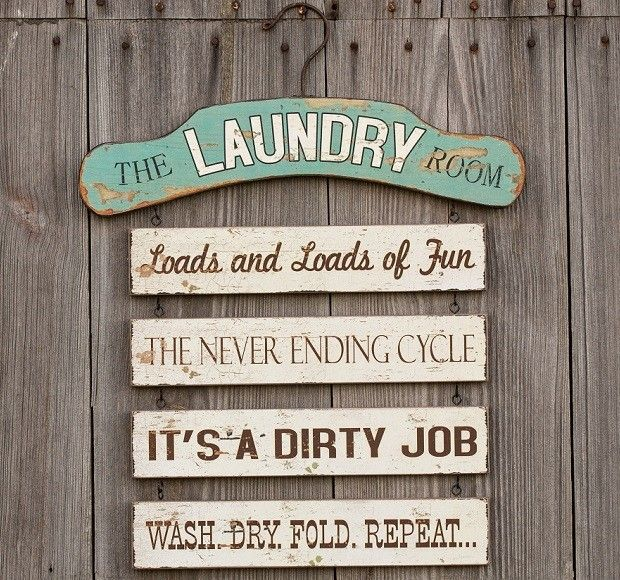 Clothes Wash Signs: Laundry Room Decor