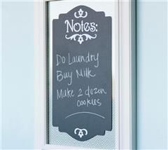 Change the background out in this message board with the seasons or to match your home décor.