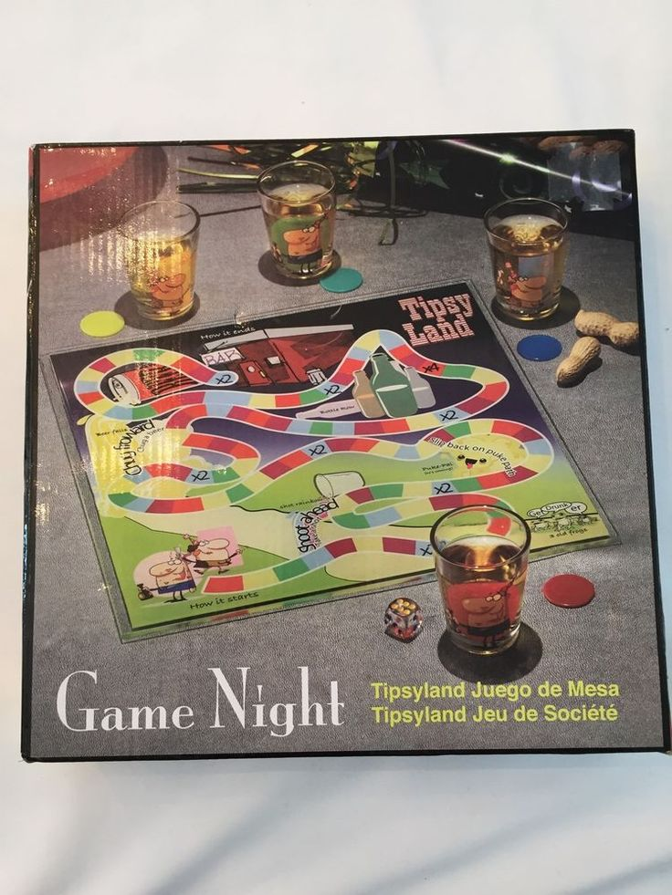 New Tipsy Land Drinking Board Game by Game Night with Shot Glasses | eBay