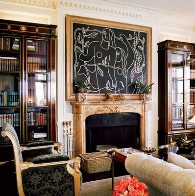 Valentino's New York apartment. Jacque Grange.
