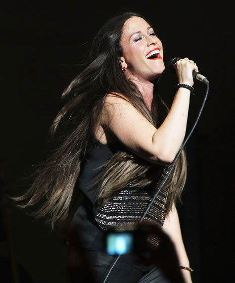 Alanis Morissette, 1974 singer, songwriter, record producer, actress.