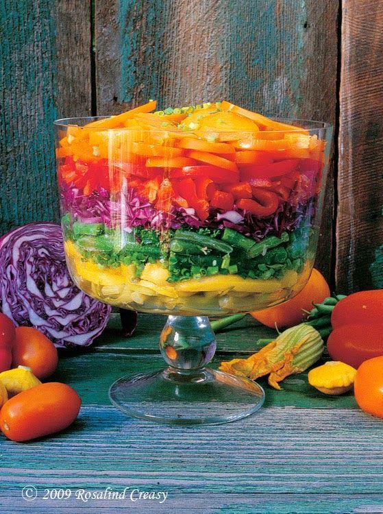 Salada Arco-Íris ... Encantadora!