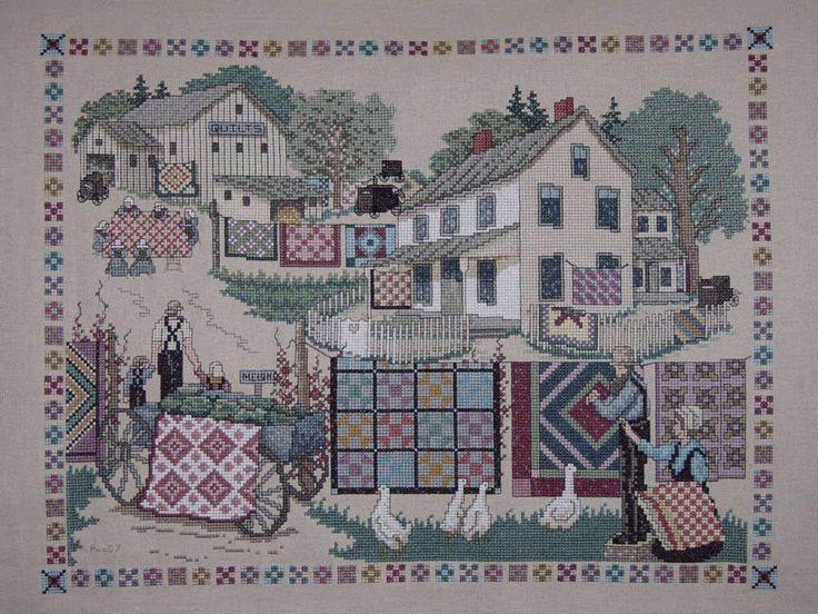 125 best Cross Stitch amish images on Pinterest
