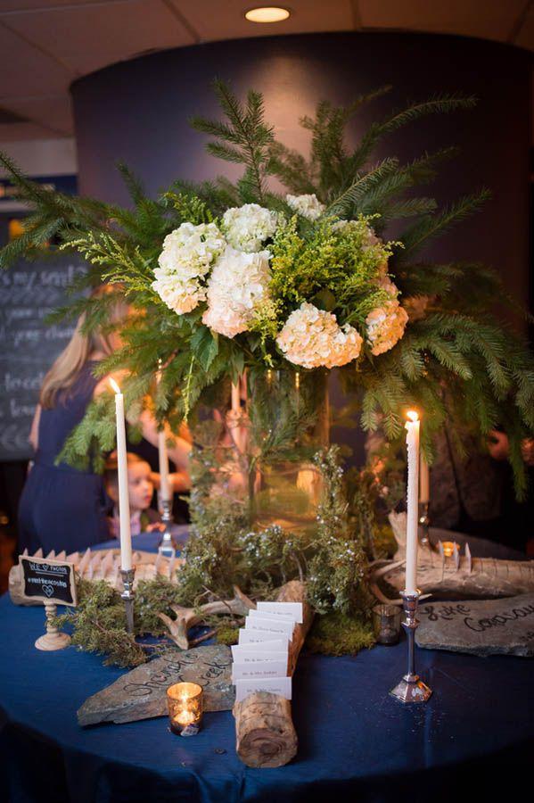 Forest wedding arrangement