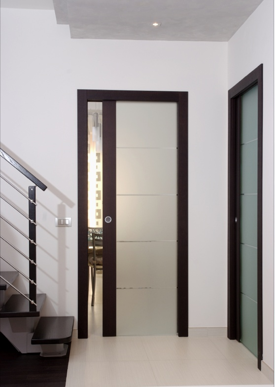 Glass and wood door. By Flessya