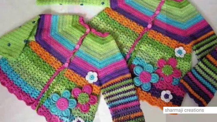 Latest sweater designs for kids || multicolour  woolen sweater design fo...
