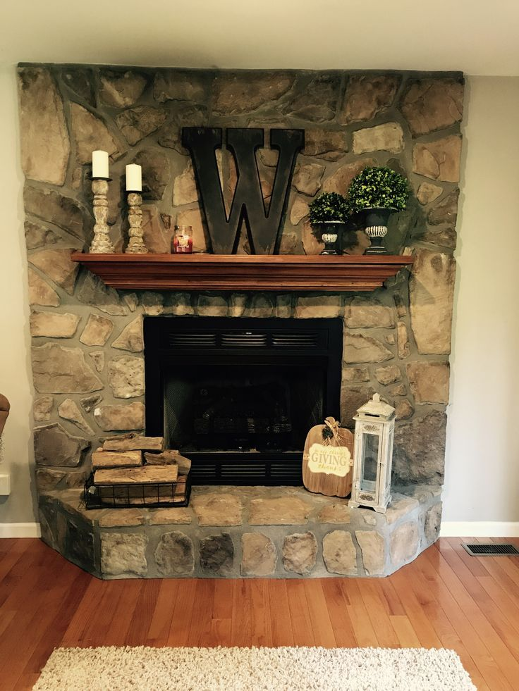 Farmhouse Style Mantel How To Decorate Your Fireplace Simple Decorating A Touch A Fall L Fireplace Mantel Decor Fireplace Mantle Decor Lantern Decor Living #small #living #room #decorating #ideas #with #fireplace