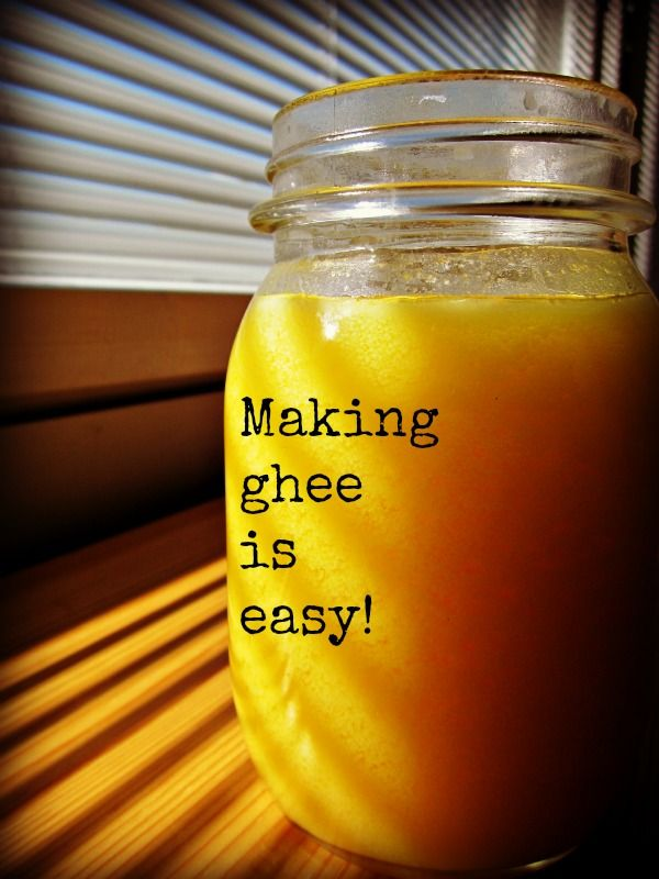 It turns out ghee is pretty easy to make and it is such a great cooking fat!  Don't know what ghee is or how to make it? This post explains it all!