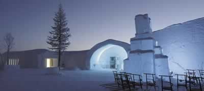 Ice Hotel (Sweden): 6,000 square feet of ice and snow