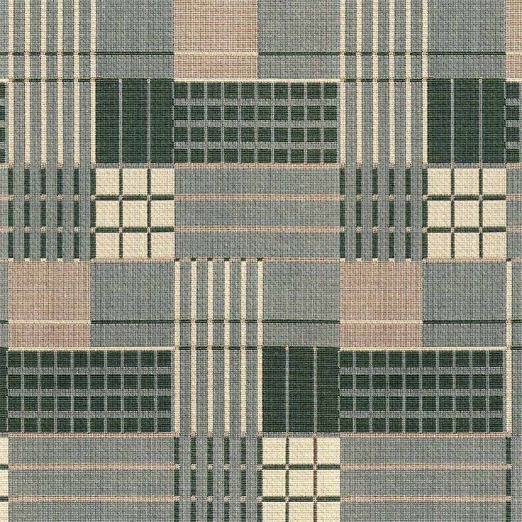 Art Deco Art Nouveau Grey Flat-Weave Curtain and Upholstery Fabric | Backhausen Art Deco Gatsby Grey from Loome Fabrics