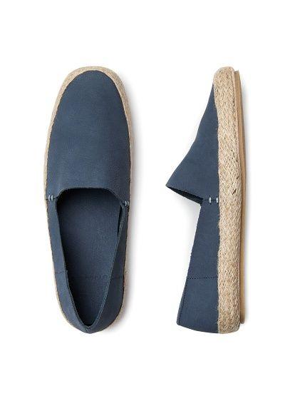 Nubuck espadrille style shoes