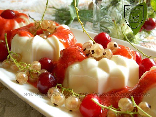 Gotowanie jest łatwe: Deser panna cotta z musem owocowym