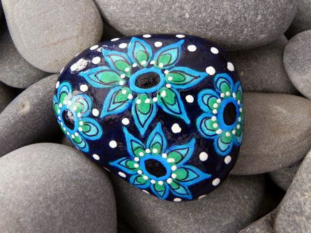 Gram's Sunday Dress / Painted Rock / Sandi Pike by LoveFromCapeCod