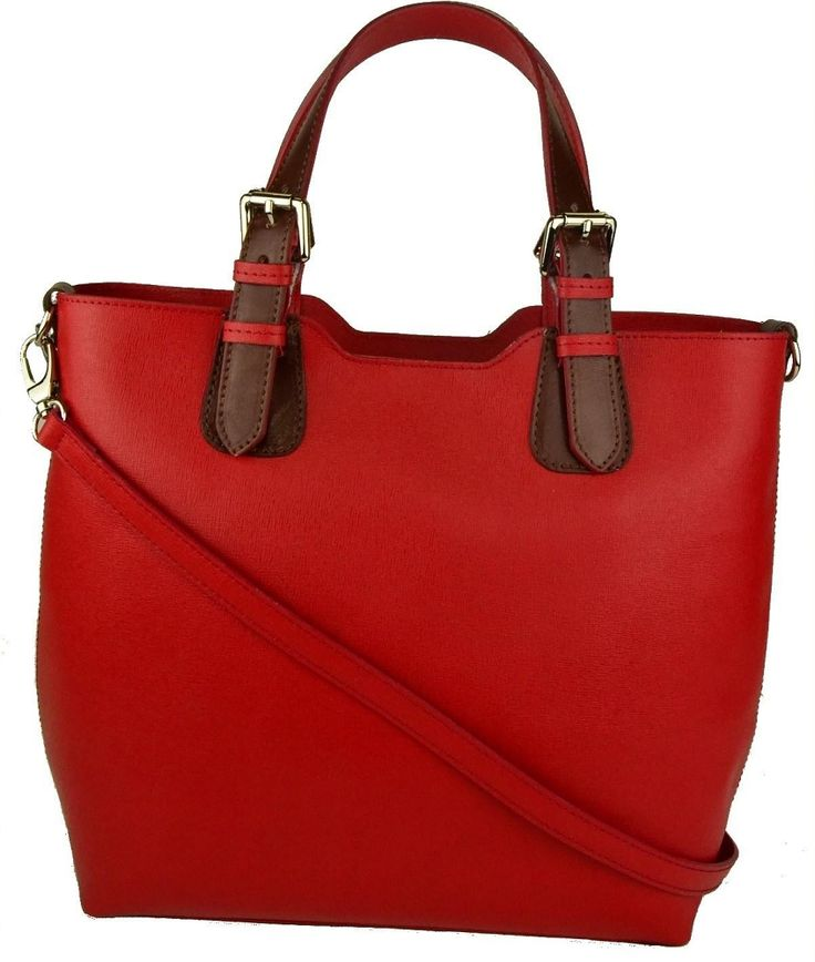 Saffiano leather handbags Made in Italy Bags Red Purses on SALE & FREE SHIPPING $125 #Bagmadness #italianleatherhandbags