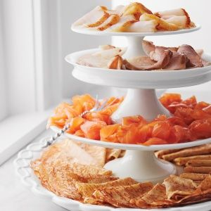 Crepes with Smoked Fishes and Dill Cream Cheese