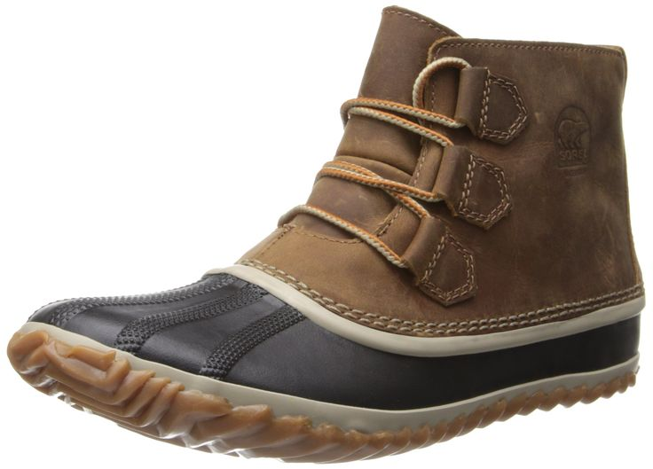 Sorel Women's Out N About Leather Snow Boot,Elk,8 M US