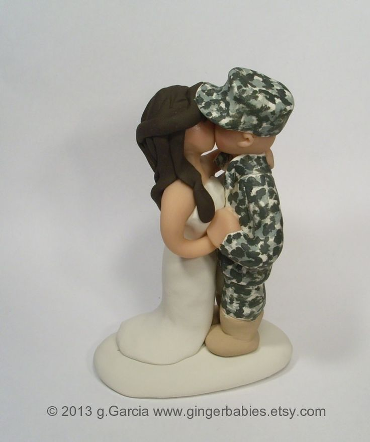 army wedding cake toppers | Custom Army Wedding Cake Topper Military