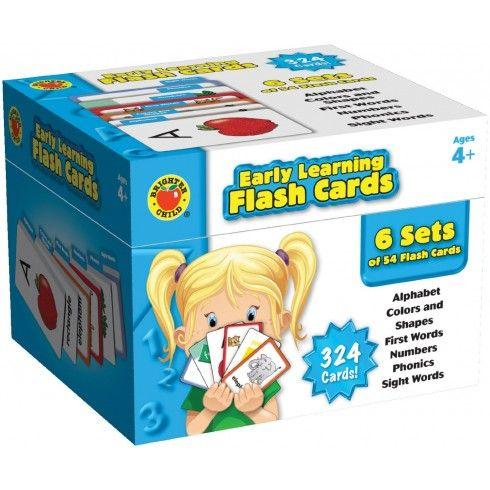 Esta caja contiene seis cubiertas organizadas por etiquetas para el acceso fácil y rápido. Las cubiertas incluyen el alfabeto, colores y formas, primeras palabras, números, fonética elemental, y ven palabras. Las tarjetas también destacan respuestas para comprobar sus respuestas. Lectura de nivel:4 años