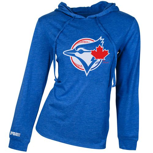 Toronto Blue Jays Centennial Triblend Long Sleeve Hooded Top by Concepts Sport - MLB.com Shop