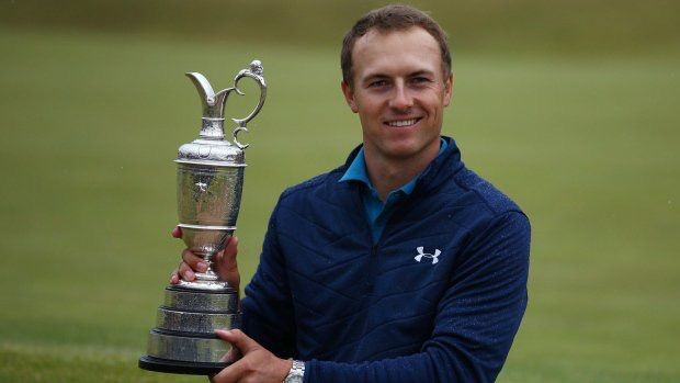 Jordan Spieth PGA Golfer 2017 British Open Champion his  3rd Major victory this year.  World Class Champion Golfer!