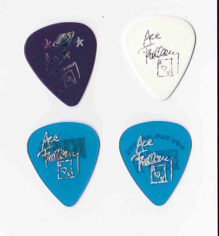 KISS Set of 4 Ace Frehley Farewell and Psycho Circus Tour Guitar Picks  | eBay