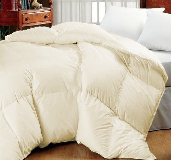 details about ivory oversized goose down alternative year round comforter queen u0026 king sizes - Oversized King Comforter