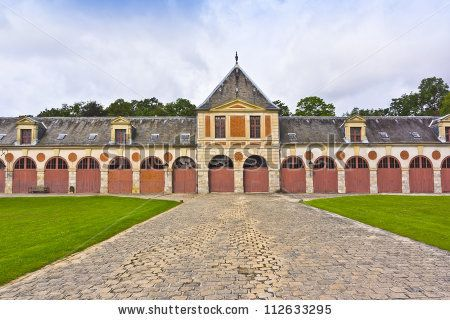 Museum crews (former stables) in Vaux-Le-Vicomte palace. Chateau de Vaux-le-Vicomte (1661) - baroque French Palace located in Maincy, near Melun, in Seine-et-Marne department of France. #112633295