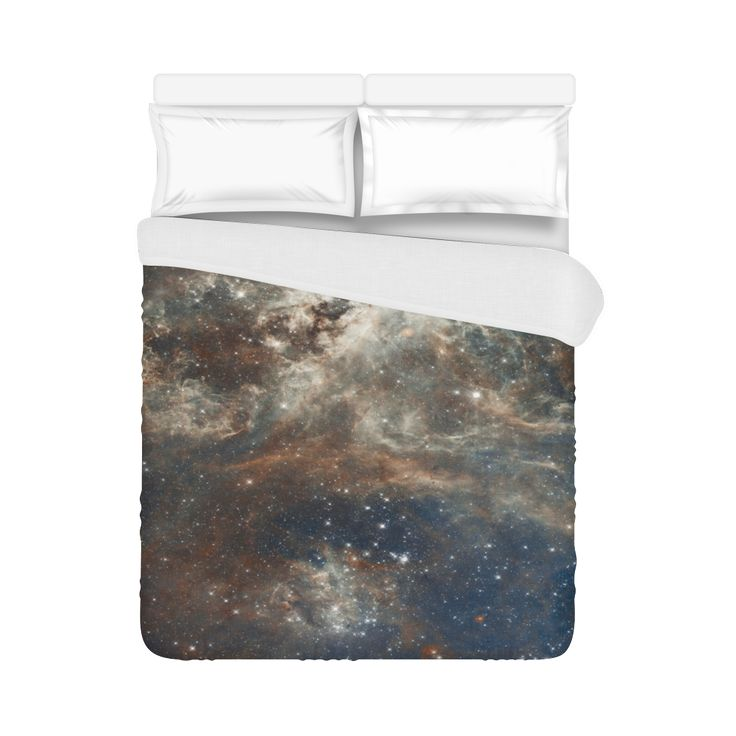 "Galactic Dust Duvet Cover 86""x70"" ( All-over-print)"