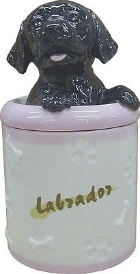 Black Labrador Collectible Dog Puppy Cookie Jar Container Statue Art. Best Price