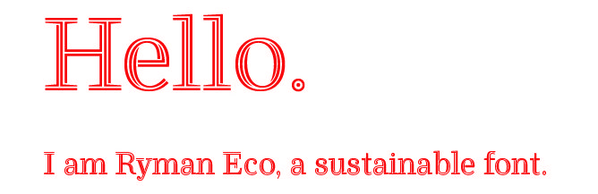 Image result for Ryman eco font