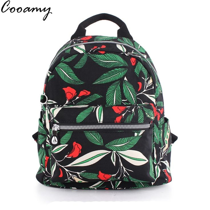 Find More Backpacks Information about Cooamy Nylon Backpacks For Teenage Girls Fashion Leaves Printing Backpack Women Mochila Casual Shoulder School Bag Travel Bag,High Quality backpack. travel bag,China bag backpack Suppliers, Cheap backpack military from Amy's Fashion Bags Factory Store on Aliexpress.com