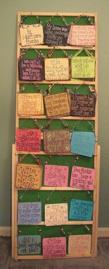 Craft show display ladder for signs by Wudls on Etsy, $30.00
