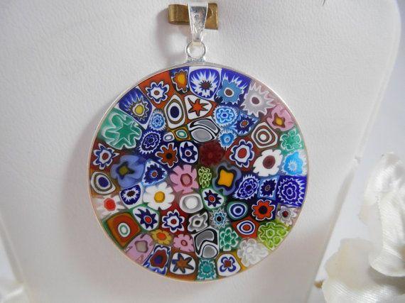 Venetian glass 83 pinterest murano glass millefiori pendant mozeypictures Images