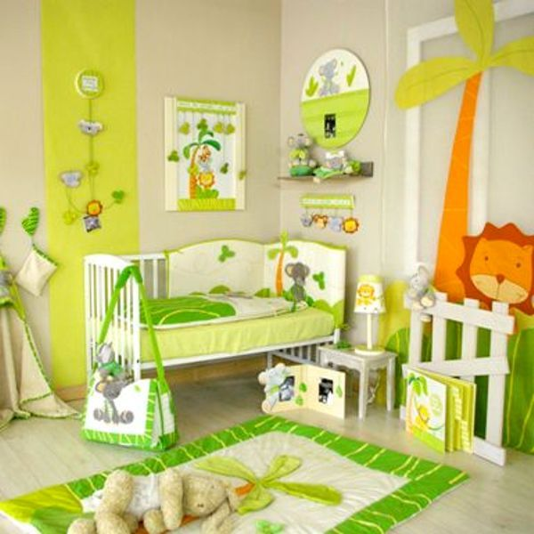 Chambre enfant jungle id e chambre gar on pinterest jungles - Chambre jungle enfant ...