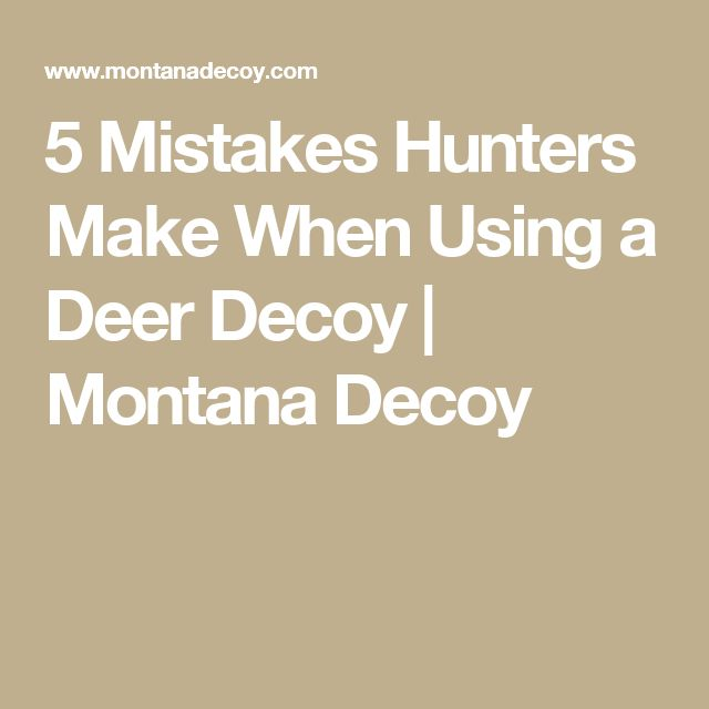 5 Mistakes Hunters Make When Using a Deer Decoy | Montana Decoy