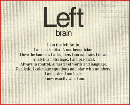 characteristics of the left brain thinker