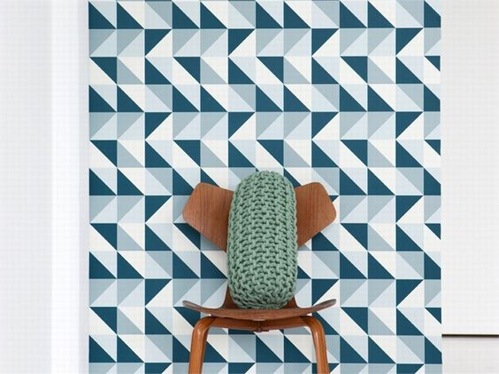 Carta da parati geometrica optical in carta Collezione Remix by ferm LIVING: