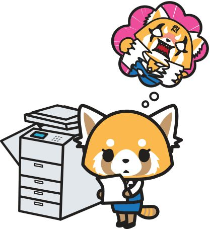 Aggretsuko  She is a cute Red Panda, working as an office associate in the accounting department of a highly respected trading company. She works in one of the biggest metropolitan areas of Tokyo. It's always been a dream of hers to work in this field, especially in this part of the city. But in reality, her bosses are unsympathetic and give her harsh deadlines. She ultimately has become a pushover within the company. When she gets pushed to the limit…