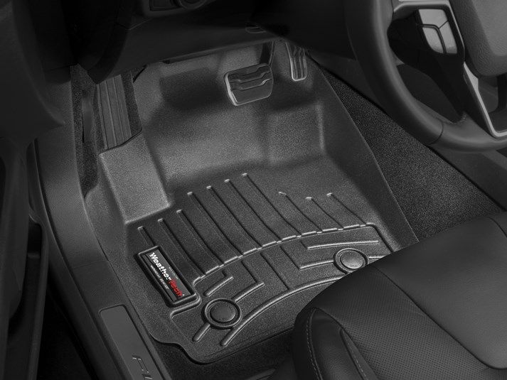 2015 ford fusion weathertech floorliner custom fit car floor protection from mud water - 2015 Ford Fusion Hybrid Black
