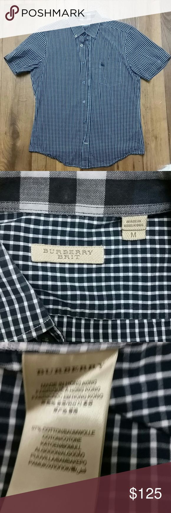 Burberry brit shirt Burberry plaid shirt medium no issues, please be familiar with Burberry sizing.  Authentic shirt Burberry Shirts Casual Button Down Shirts
