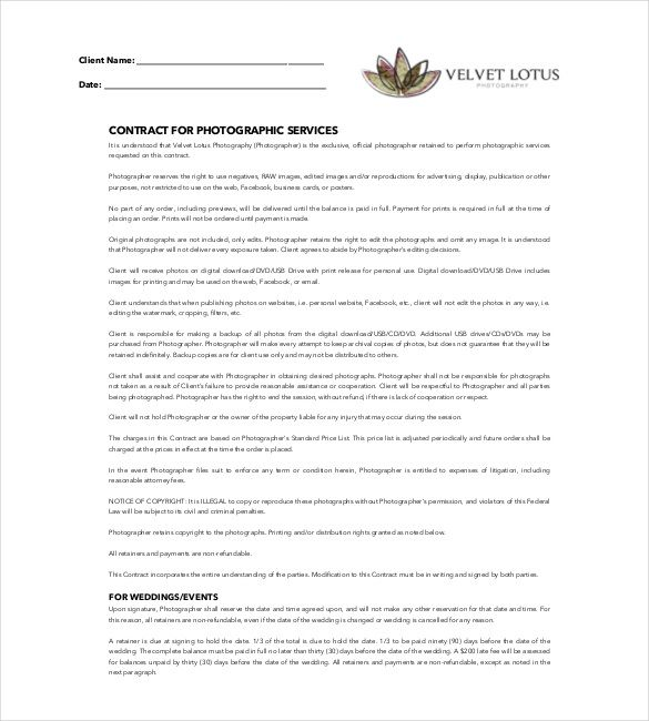 266 best agreement template images on Pinterest Pdf, Resume - videography contract template
