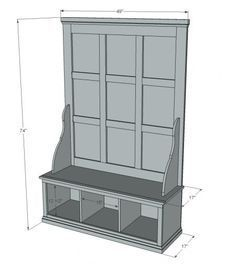I want to make this! DIY Furniture Plan from Ana-White.com Free plans to build a Hall Tree! Step by step plans include shopping list, cut list, and detailed diagrams to help you build your own hall tree!