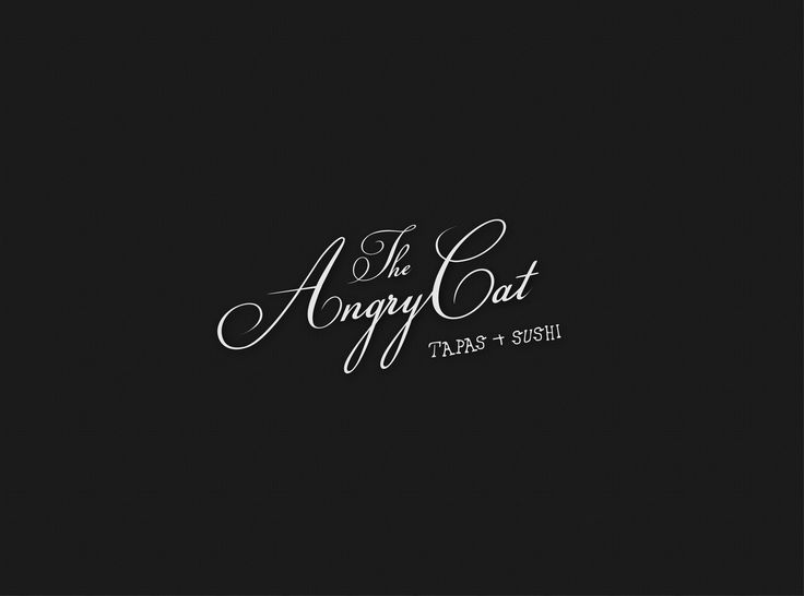 The Angry Cat #logo and #branding #quirky #restaurant #canada #script