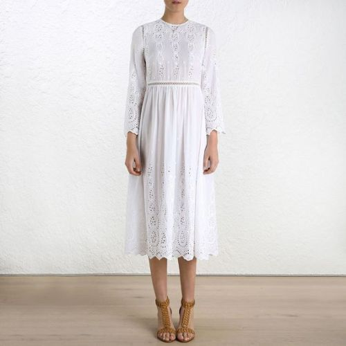 Zimmermann-White-Ticking-Broderie-Anglaise-Dress-BNWT-Size-1-RRP-595